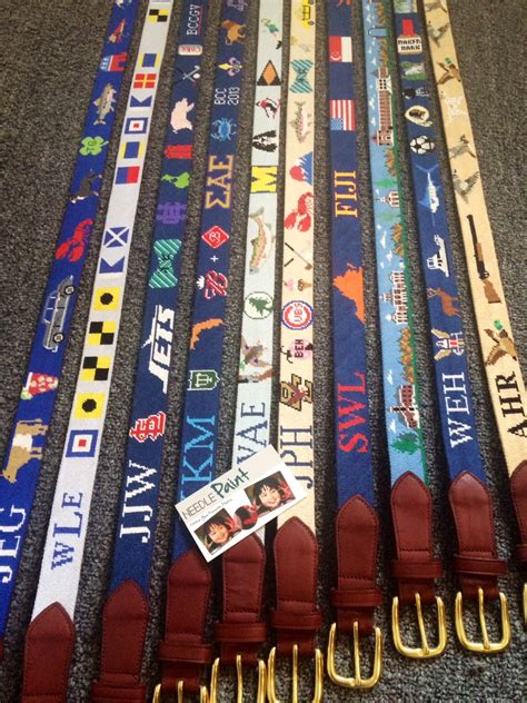 custom needlepoint belt design details needlepoint