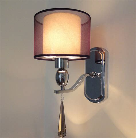 modern wall l fabric abajur sconce bedroom home