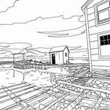 Newfoundland Coloring Quilt Sheets Colour Blocks Template sketch template