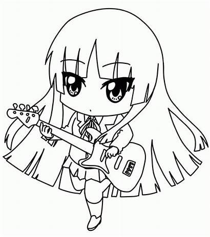 Chibi Coloring Template Anime Templates Printable Chibis