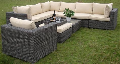 rattan garden sofa sets rattan and wicker furniture