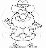 Miner Prospector Cartoon Coloring Drawing Chubby Outlined Waving Clipart Thoman Cory Drawings Vector Mining Happy Getdrawings Loving Arms sketch template