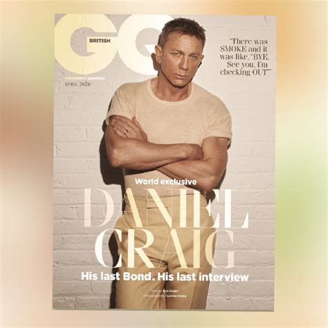 BRITISH GQ MAGAZINE APRIL 2020: DANIEL CRAIG - JAMES BOND ...