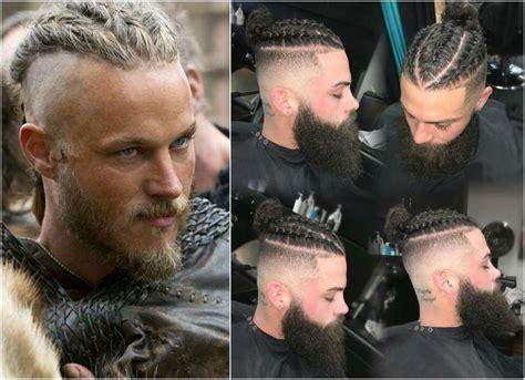 wikinger frisuren undercut sidecut flechten ragnar