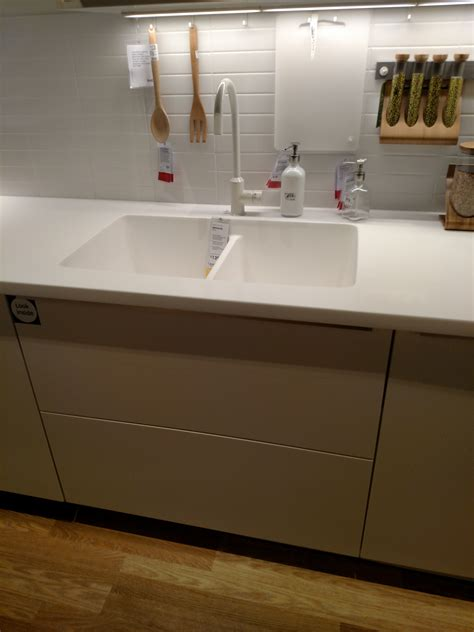 ikea acrylic countertop the curious of ikea s invisible kitchen sink