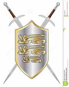 Crossed Swords And Shield Stock Illustration - Image: 52338970