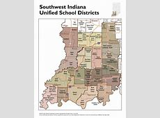 Unified School District Boundary Maps STATS Indiana