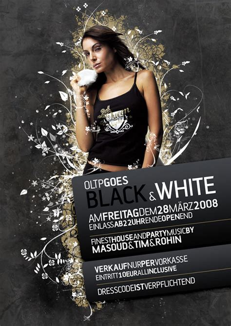 black  white flyer templates psd ai indesign