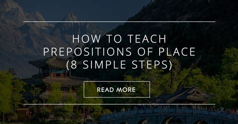 teach prepositions  place  simple steps
