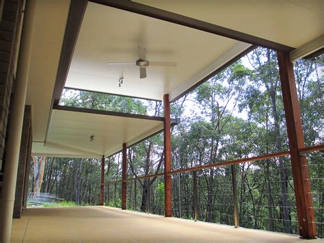 insulated patio attached   house  large timber