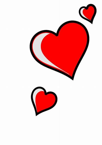 Hearts Clip Heart Clipart Three Vector Cliparts