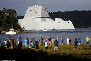 USS Zumwalt destroyer officially joins the Navy with ...