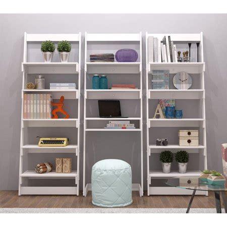 Walmart White Bookcase by Manhattan Comfort Carpina 5 Shelf Bookcase In White