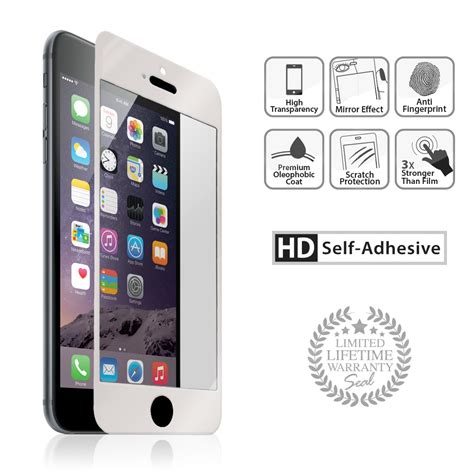 silver iphone 6 iphone 6 plus silver tempered glass