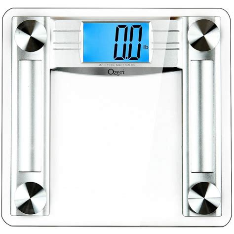 ozeri  lbs clear digital bath scale  body tape