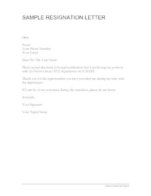 18 Printable Resignation Letter Template Forms - Fillable Samples in PDF, Word to Download