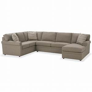 Rowe brentwood transitional sectional sofa with chaise for Brentwood transitional sectional sofa with chaise by rowe