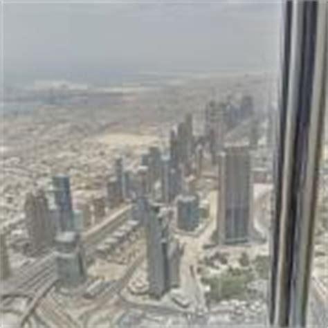 view from burj khalifa 154th floor in dubai united arab