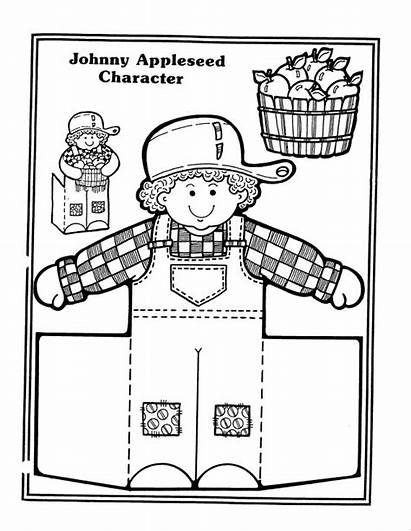 Appleseed Johnny Coloring Activities Preschool Apple Pages