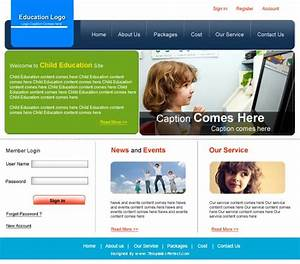 free education psd web template templates perfect With online education templates free download