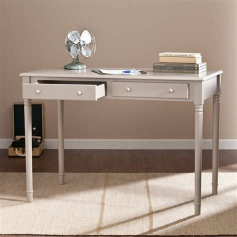 gray desk with drawers southern enterprises janice 2 drawer writing desk in gray