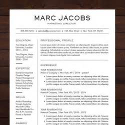 modern sle resume templates beautiful and sleek resume template cv template for ms word professional resume design in