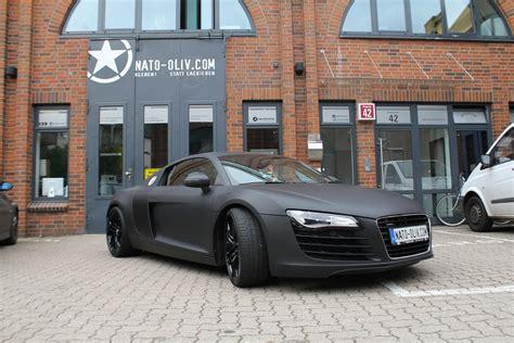 Schwarz Matt by Audi R8 In Schwarz Matt Mit Carbon Extras Nato Oliv