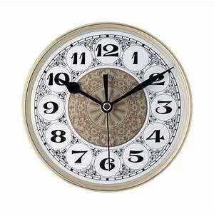 """7 7/8"""" Fancy Clock Insert with Gold Bezel Klockit"""