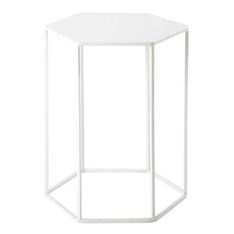 bout de canape design bout de canapé en métal blanc l 45 cm finnois maisons du