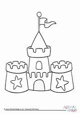 Castle Sand Colouring Sandcastle Coloring Pages Beach Hogwarts Printable Activityvillage Seaside Template Drawing Tsgos Summer Colour Sheets Simple Preschool Elegant sketch template