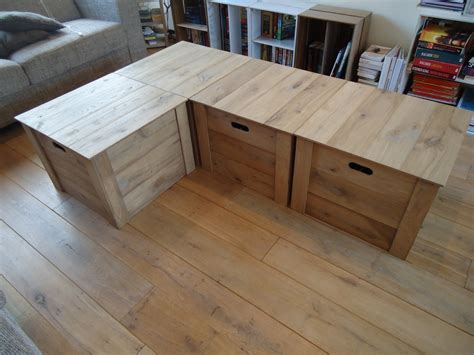 salontafel fruitkistjes vier houten opberg kisten gemaakt die dienst doen als