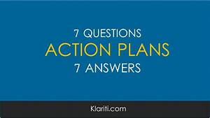 Action Plans  7 Questions  7 Answers  Excel Templates