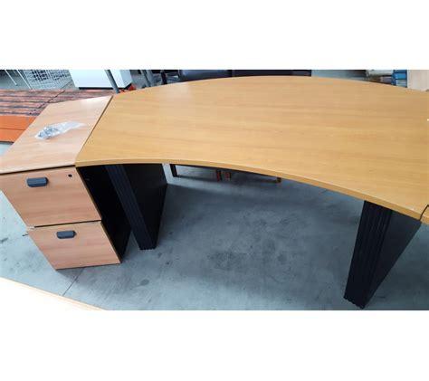 bureau surintendant des faillites bureau d 39 angle arrondi en bois pieds métallique noir