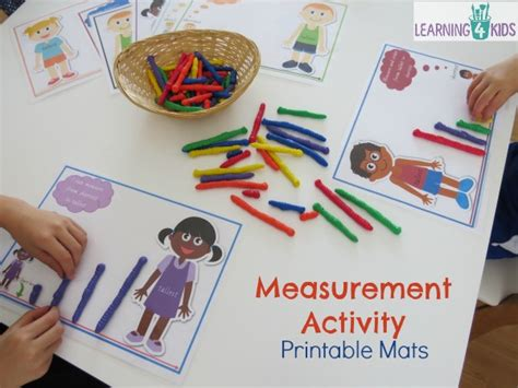 measurement maths centre activities learning 4 179 | Measurement activities for work stations or maths centres with printable measurement mats