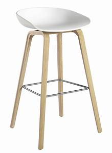About A Stool : about a stool aas 32 bar stool h 75 cm plastic wood legs white natural wood base by hay ~ Buech-reservation.com Haus und Dekorationen