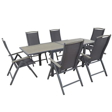 table et chaise d ext 233 rieur 6 places mobeventpro