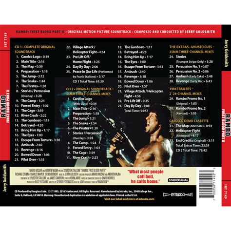 Rambo First Blood Part II (Expanded) [2CD] ⋆ Soundtracks Shop