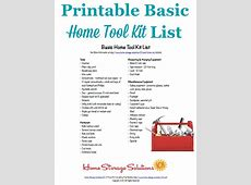 Basic Home Tool Kit List Make Sure You Have The Essentials