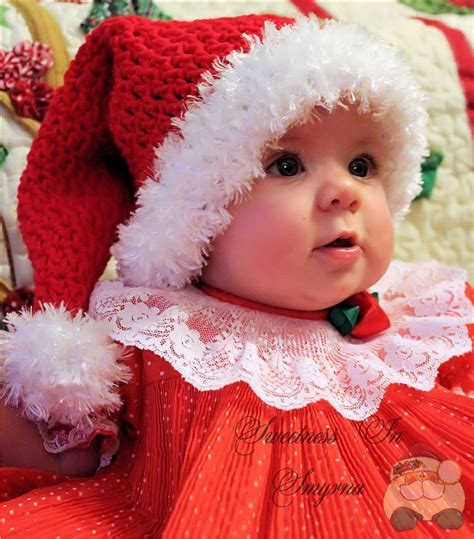 christmas baby santa hat crocheted baby hat by