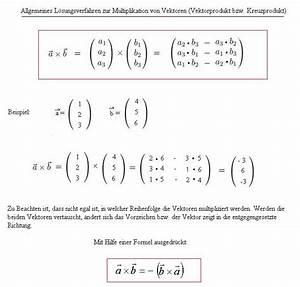 Länge Eines Vektors Berechnen : multiplikation von vektoren miteinander was ist das vektorprodukt was ist das kreuzprodukt ~ Themetempest.com Abrechnung