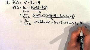 Calculating A Derivative Using The Definition Of A