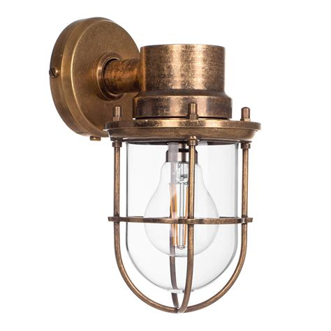 brass ship s light garden wall lights outdoor lighting