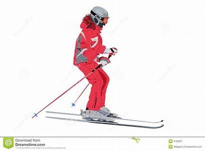 Skier Sciatore Vettore