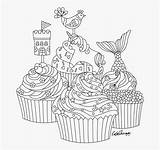 Colouring Cupcake Mindfulness Cupcakes Fantasy Clipart Transparent Clipartkey Muffin Svg sketch template