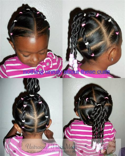 Little Black Girl Hairstyles Pony Tails