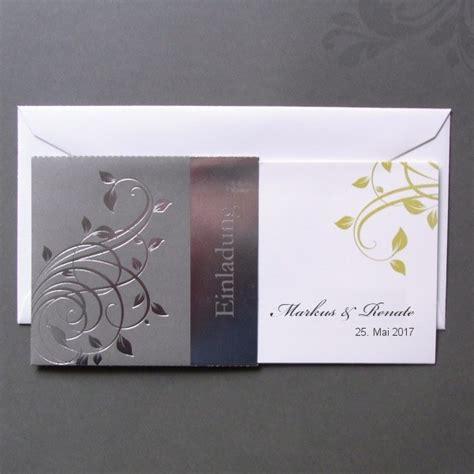 einladungskarte zur silberhochzeit im todschicken design