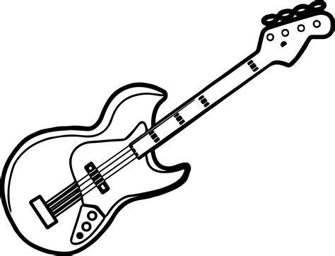 guitar coloring pages bass guitar coloring pages kidsuki