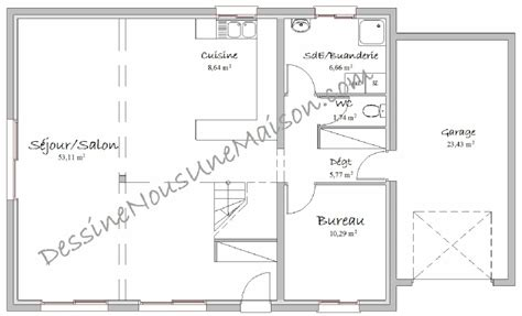 plan maison 100m2 3 chambres plans gratuits de maisons avec mezzanine