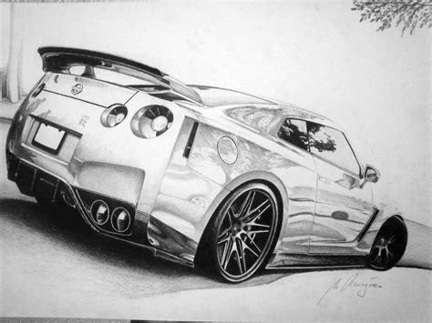 Drawn Nissan Gtr