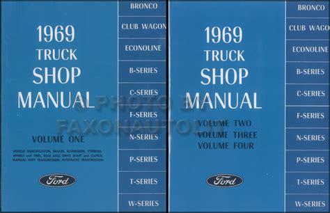 Ford Truck Repair Shop Manual Set Original Pickup